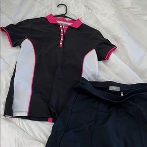 Callaway opti-dry polo shirt and skirt set